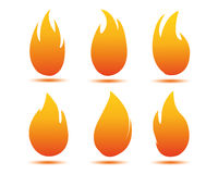 Flame illustration Royalty Free Stock Images