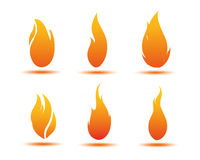 Flame illustration. Gradient flame illustration design in orange Royalty Free Stock Image