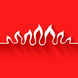 Flame. Infographic element. Vector illustration on red background. EPS 10 Stock Images