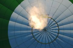 Flame inside a balloon Royalty Free Stock Photography
