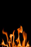 Flame isolated over black Stock Photography