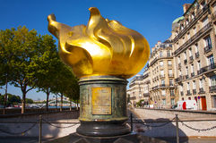 Flame of liberty in Paris Royalty Free Stock Image