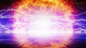 Flame and lightnings Royalty Free Stock Images