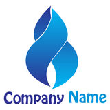 Flame logo Royalty Free Stock Photography