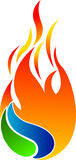 Flame logo Royalty Free Stock Images