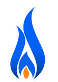 Flame logo. Illustration of blue flame design Royalty Free Stock Photos