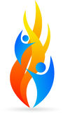 Flame logo Stock Images
