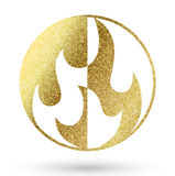 Flame logo Royalty Free Stock Photo