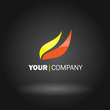 Flame logo design. Vector illustration of a flaming logo Royalty Free Stock Images