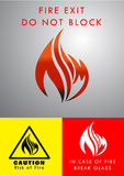 Flame Logo Design Royalty Free Stock Photography