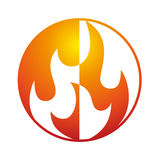 Flame logo Stock Photo