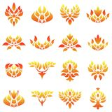 The flame logo template. Set of fire flame logo template Stock Image