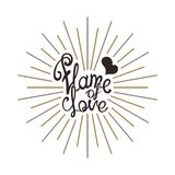 Flame of Love Royalty Free Stock Image