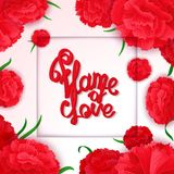 Flame of love poster Stock Photo