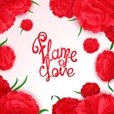 Flame of love poster Stock Photography