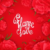 Flame of love quote poster Royalty Free Stock Image