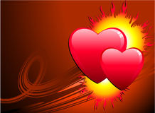 Flame of love Valentine's Day background Stock Images