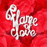 Flame of love Royalty Free Stock Images