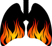 Flame lungs logo Stock Photography