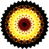 Flame. Mandala,kaleidoscope flame in brazier, abstract background Royalty Free Stock Images