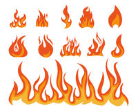 Flame. Many kind of flame illustration for game Stock Images