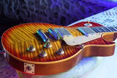 `Flame Maple` 59 Les Paul Standard royalty free stock photos