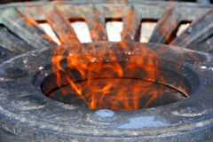Flame on memorial Royalty Free Stock Photo