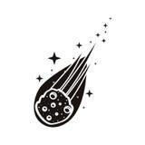 Flame meteorite icon Stock Photos