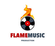 Flame Music Logo Stock Images