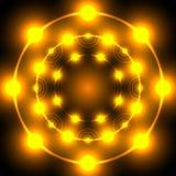 Flame neon circle Royalty Free Stock Image