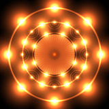 Flame neon circle Royalty Free Stock Image