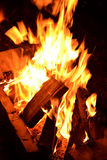 Flame in the night Royalty Free Stock Photo