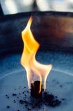 Flame of oil lamp close up horizontal Stock Photos