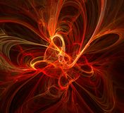 Flame Organic Abstract. Organic red flame abstract, horizontal, over black background Stock Images