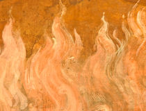 Flame painting Stock Images