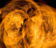 Flame performance at night Royalty Free Stock Photos