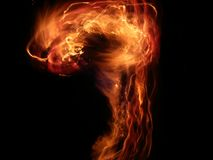Flame Question Mark Royalty Free Stock Images