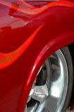 Flame red custom car  Royalty Free Stock Photography