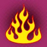 Flame retro silhouette Royalty Free Stock Photo
