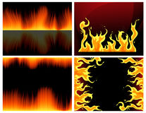 Flame set. Vector iilustration, AI file included Royalty Free Stock Photos