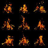 Flame set Royalty Free Stock Image