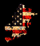 Flame Shape Usa Flag in Grunge Style Royalty Free Stock Images