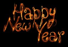Flame sign Happy New Year Stock Photo
