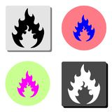Flame. flat vector icon vector illustration