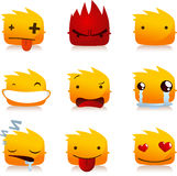 Flame smileys Royalty Free Stock Photo