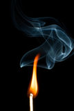 Flame with smoke Royalty Free Stock Images