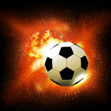 Flame soccer ball Royalty Free Stock Images