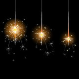 Flame, sparkler, illustration and painting. 2d Royalty Free Stock Images