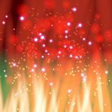 Flame with sparkles Stock Images