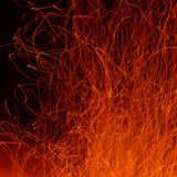 Flame and sparks Royalty Free Stock Images